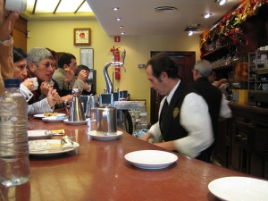 Busy bar in Seville