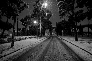 Winter in Madrid... Photo by Sergio Moratilla