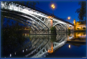 Triana Bridge in Sevilla... Photo by Calvo Pastor