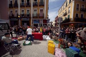 Market down Calle Feria. Photo by Julio Albarran