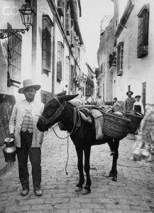 street seller in spain